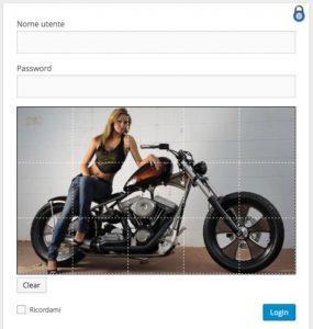 immagine del login con graphic password