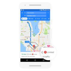 testo icona esempio app google maps
