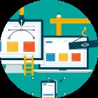 Icona di Web app development